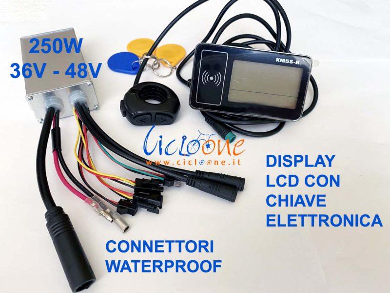 centralina 250w 48V king meter display lcd