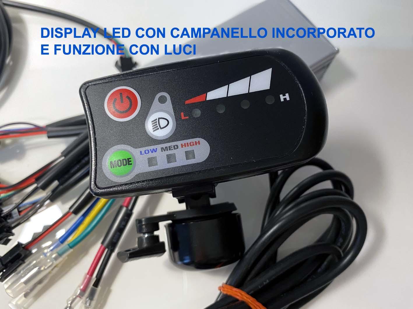 display led con campanello integrato