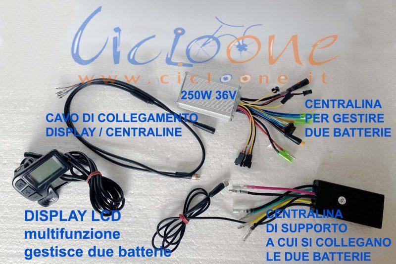 centralina bici per due batterie